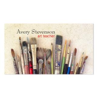 Artist Paint Brushes Painter Art Instruction Pack Of Standard Business Cards