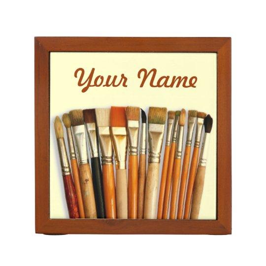 Artist Paint Brushes Personalised Desk Organiser