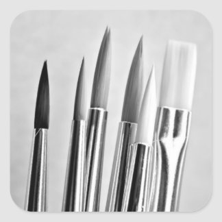 Artist paint brushes stickers