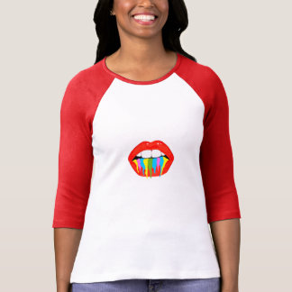 Artist Paint Women's 3/4 Sleeve Raglan T-Shirt