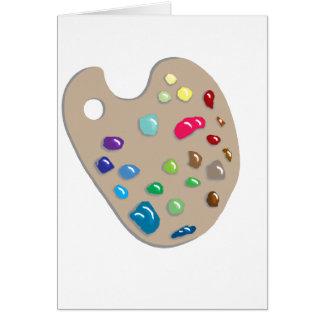 Artist Palette Art Artists Craft Paint Painter Fun Greeting Card