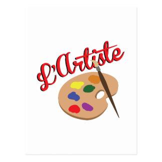 Artist Palette Postcard
