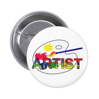 Artist Pallet 6 Cm Round Badge