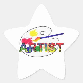 Artist Pallet Star Sticker