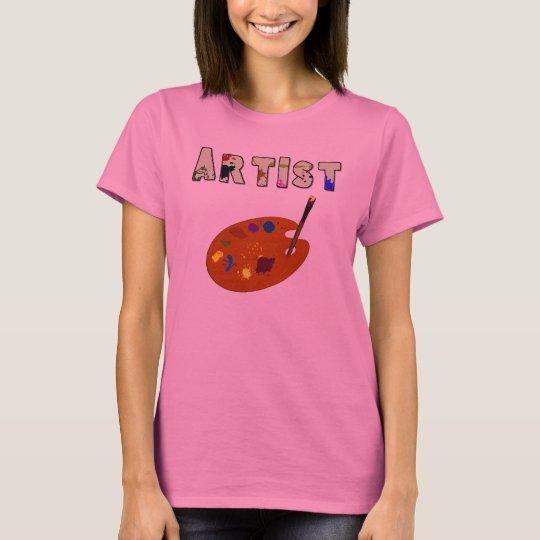 Artist Pallette Long Sleeve Womens Shirt