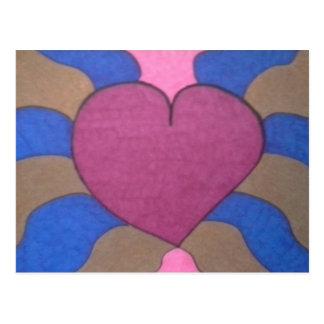 Artist Postcard Bleeding Heart Contemporary Art