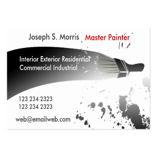Artist Professional Black and White Painter House Business Card Template
