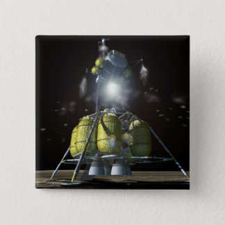Artist rendition of a new spaceship to the moon 3 15 cm square badge