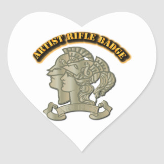 Artist Rifle Badge Heart Sticker