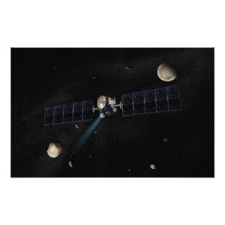 Artist s concept of the Dawn spacecraft in orbi Photo Print