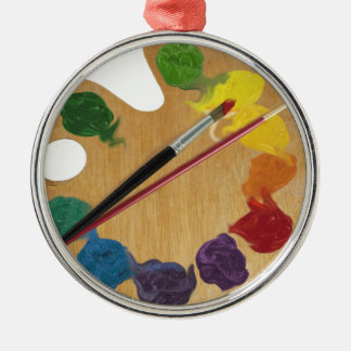 Artist`s palette color wheel christmas ornament