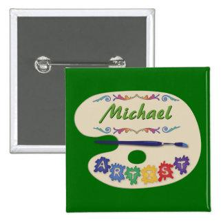 Artist s Pallet Name Badge Pin