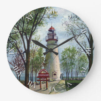Artist Series Clock - Marblehead Lighthouse