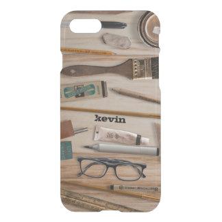 Artist Tools On Wood Texture iPhone 7 Case