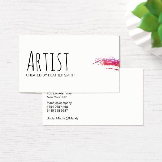 Artist / Watercolor Business Card