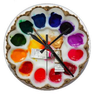Artist Watercolor Palette Clock What Deviled Eggs?