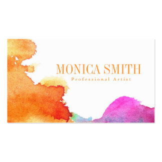 Artist Watercolor Style Business Card