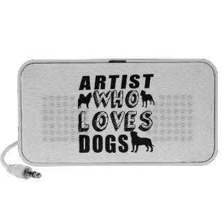artist Who Loves Dogs Mp3 Speakers