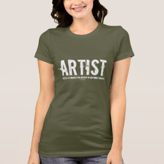 Artist Womans T-Shirt (white)