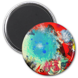 Artistic Abstract 6 Cm Round Magnet