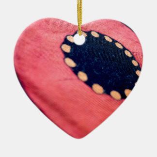 Artistic Abstract Fabric Ceramic Heart Decoration