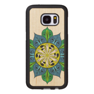 Artistic Abstract Floral Design Wood Samsung Galaxy S7 Case