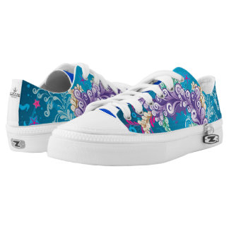 Artistic Abstract Floral Low Tops