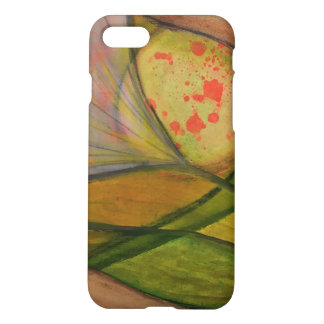 Artistic abstract flower painting iPhone 7 case
