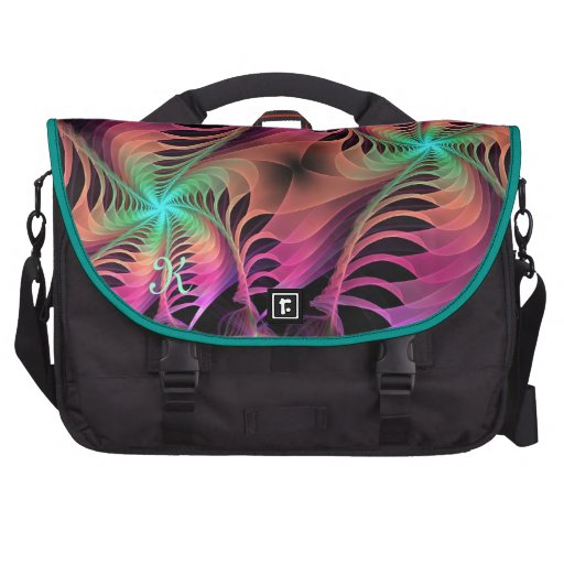 Artistic abstract monogram Commuter bag