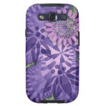 Artistic abstract Samsung S case wth retro flowers