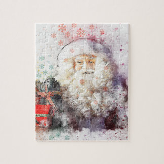 Artistic Abstract Santa Claus Jigsaw Puzzle