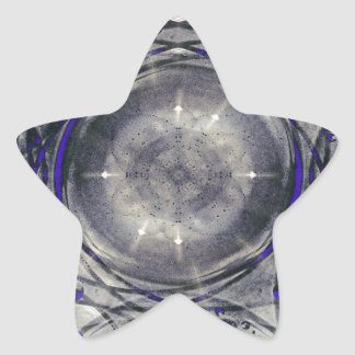 Artistic Abstract. Star Sticker