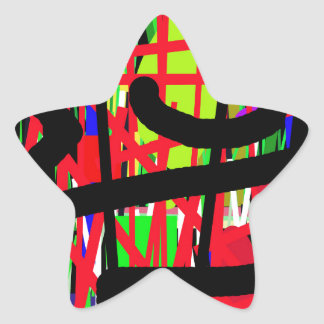 Artistic abstraction star sticker