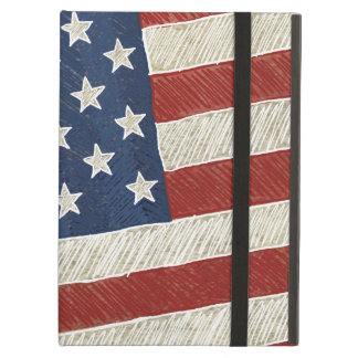 Artistic American Flag - Illustrated Case For iPad Air
