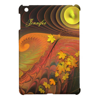 Artistic Autumn / Fall & Name iPad Mini Cover