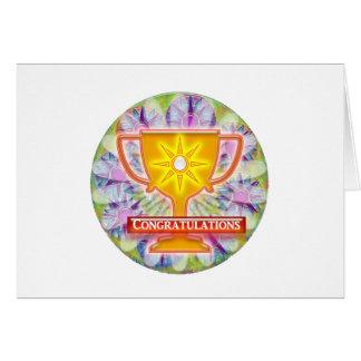 Artistic AWARD Text CONGRATULATIONS Cards