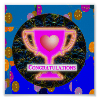 Artistic AWARD : Text CONGRATULATIONS Posters