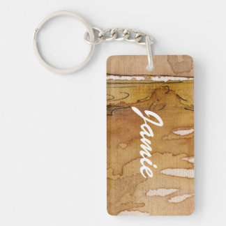 Artistic background watercolor key ring