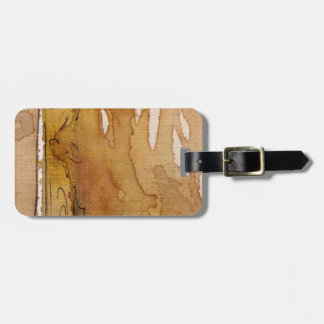 Artistic background watercolor luggage tag