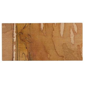 Artistic background watercolor wood USB 2.0 flash drive