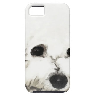 Artistic Bichon head aquarelle Tough iPhone 5 Case