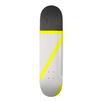 Artistic black neon yellow modern stripes 20 cm skateboard deck