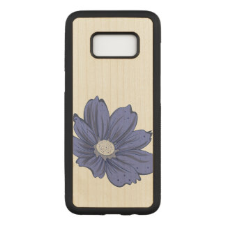 Artistic Blooming Flower Carved Samsung Galaxy S8 Case