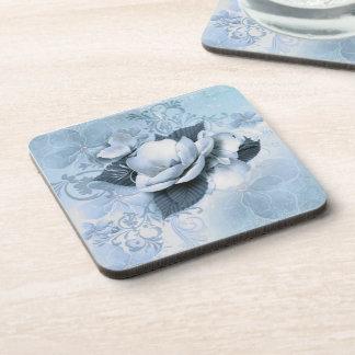 Artistic Blue Floral Coasters (set of 6)