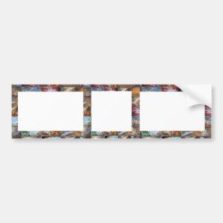 Artistic Border -  Add your text or Image Bumper Sticker
