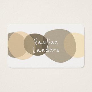 Artistic Brown Circular Shapes Business Card
