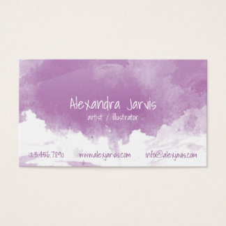 Artistic Brushed Watercolour - Purple Business Card