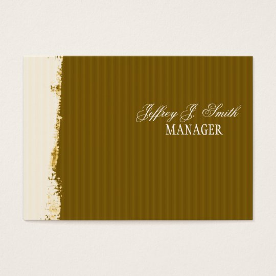 Artistic Brushstrokes Rust Earth-Colours Business Card