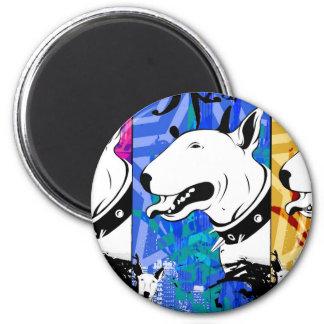 Artistic Bull Terrier Dog Breed Design 6 Cm Round Magnet