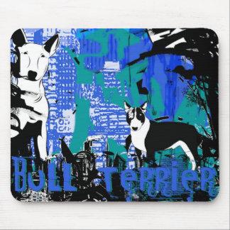 Artistic Bull Terrier Dog Breed Design Mouse Mat